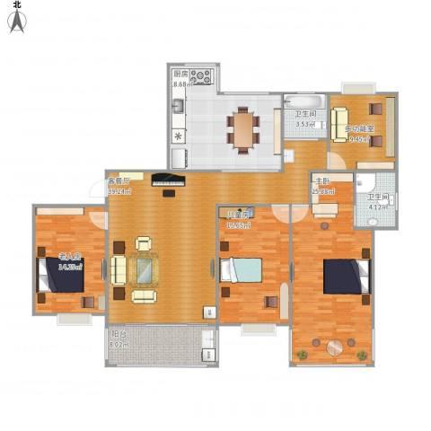 福瑞嘉园3室1厅2卫1厨185.00㎡户型图