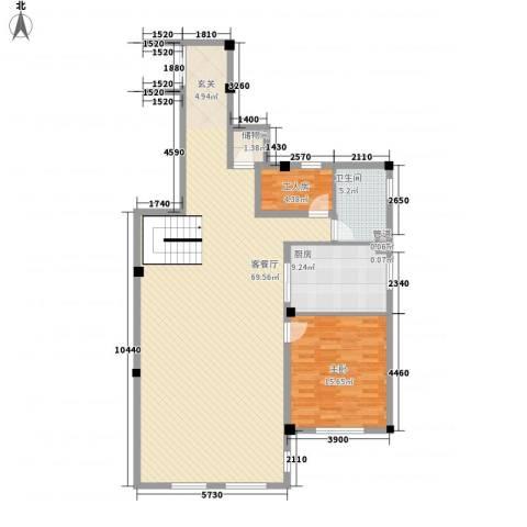米拉晶典1室1厅1卫1厨223.00㎡户型图