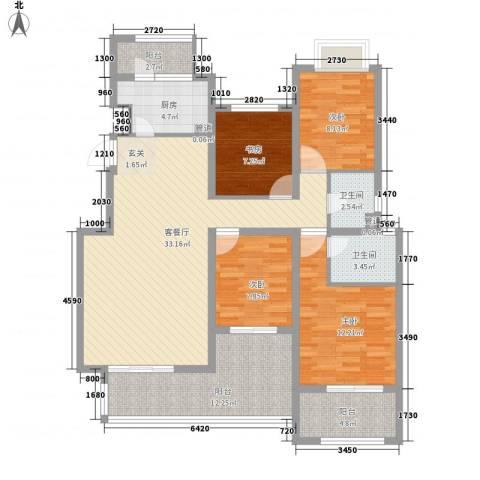 融科玖玖城4室1厅2卫1厨144.00㎡户型图