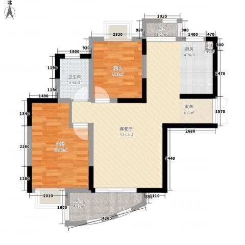 中兴华庭2室1厅1卫0厨90.00㎡户型图