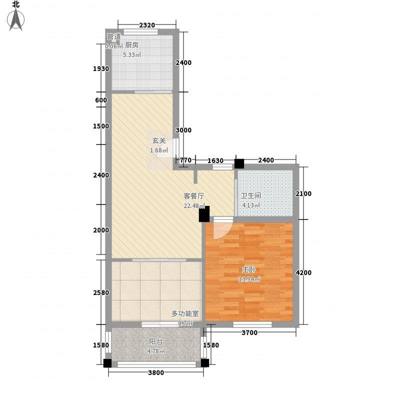 维科半山佳园7.83㎡F1户型2室2厅1卫