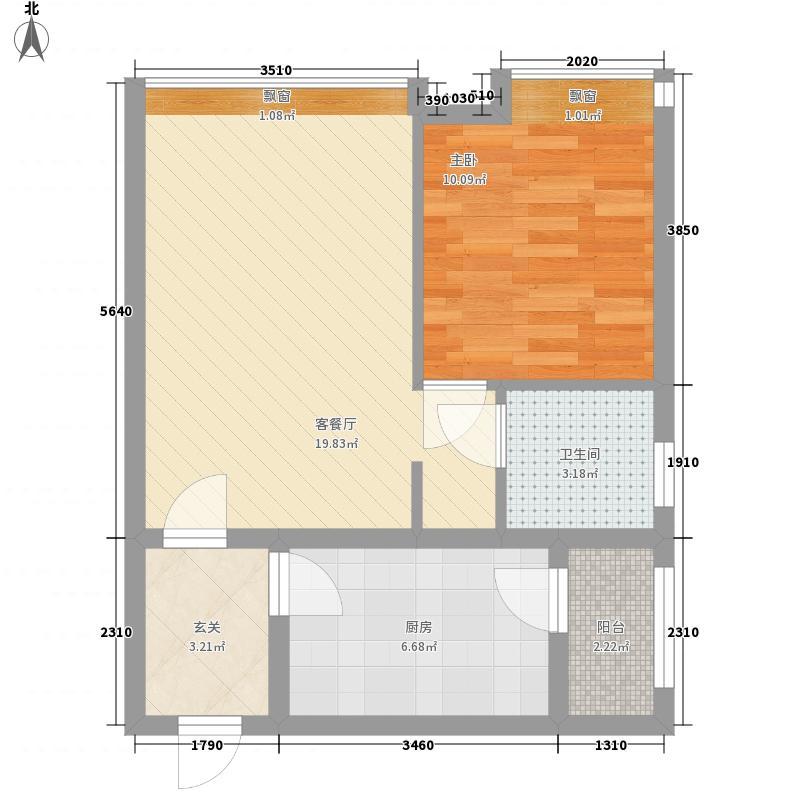 鸿瑞豪庭65.00㎡鸿瑞豪庭户型图A2户型1室1厅1卫65平方米1室1厅1卫1厨户型1室1厅1卫1厨