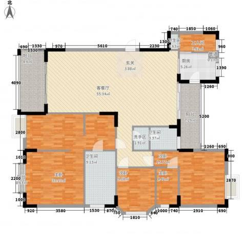 中信凯旋城4室1厅3卫1厨160.29㎡户型图
