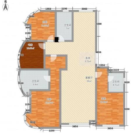 君豪・绿园4室1厅3卫0厨145.47㎡户型图