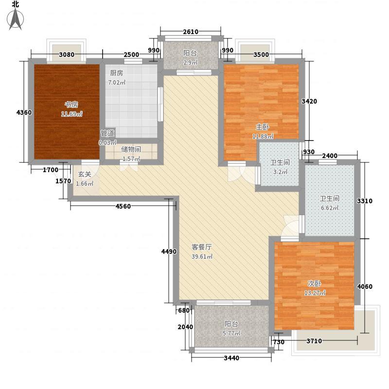 北方佳苑150.49㎡北方佳苑户型图A3户型3室2厅2卫1厨户型3室2厅2卫1厨