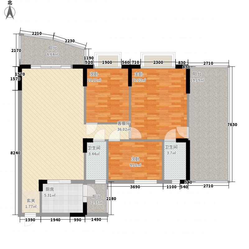 芳菲苑157.19㎡芳菲苑户型图玉兰阁01单位3室2厅2卫1厨户型3室2厅2卫1厨