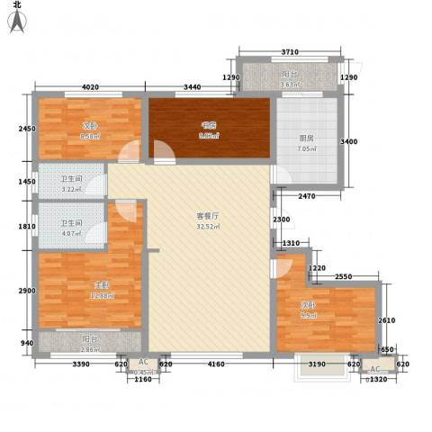 美罗城4室1厅2卫1厨135.00㎡户型图