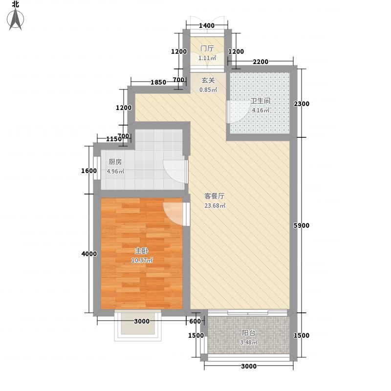名都中央广场69.90㎡名都中央广场户型图A2户型1室1厅1卫1厨户型1室1厅1卫1厨