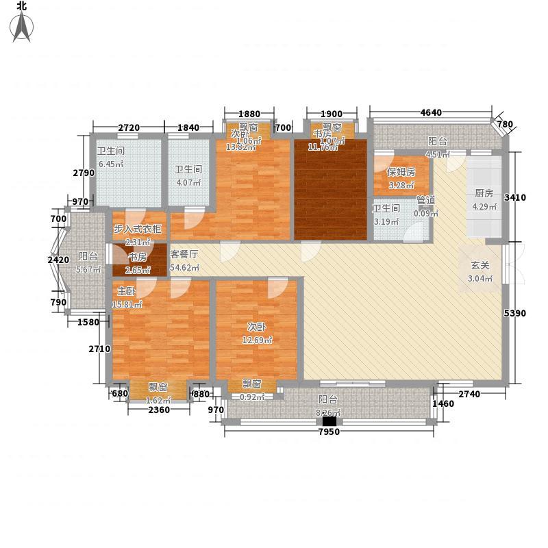 鸿瑞豪庭209.00㎡鸿瑞豪庭户型图E1户型4室2厅3卫1厨209平4室2厅3卫1厨户型4室2厅3卫1厨