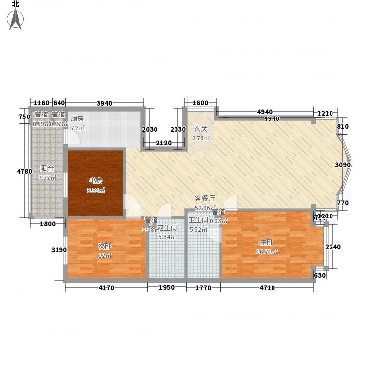 凯旋城175.80㎡户型2室1厅2卫1厨