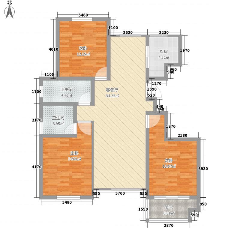 海情御园12.62㎡A5户型3室2厅2卫1厨