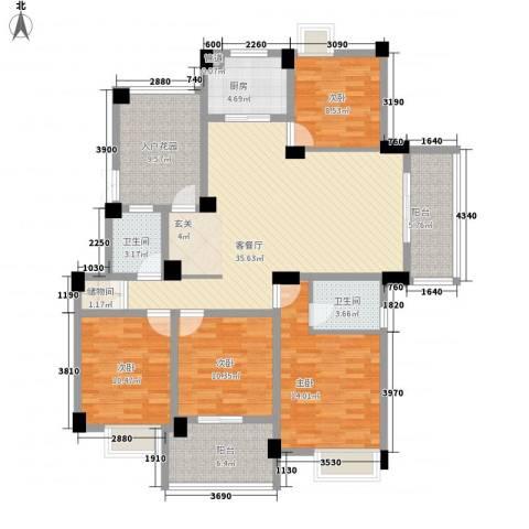 东海小区4室1厅2卫1厨166.00㎡户型图