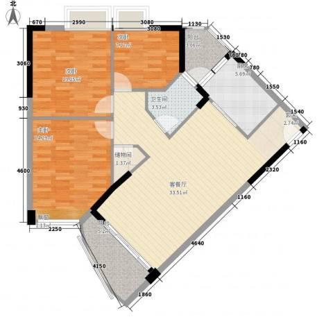 碧水湾3室1厅1卫1厨97.60㎡户型图