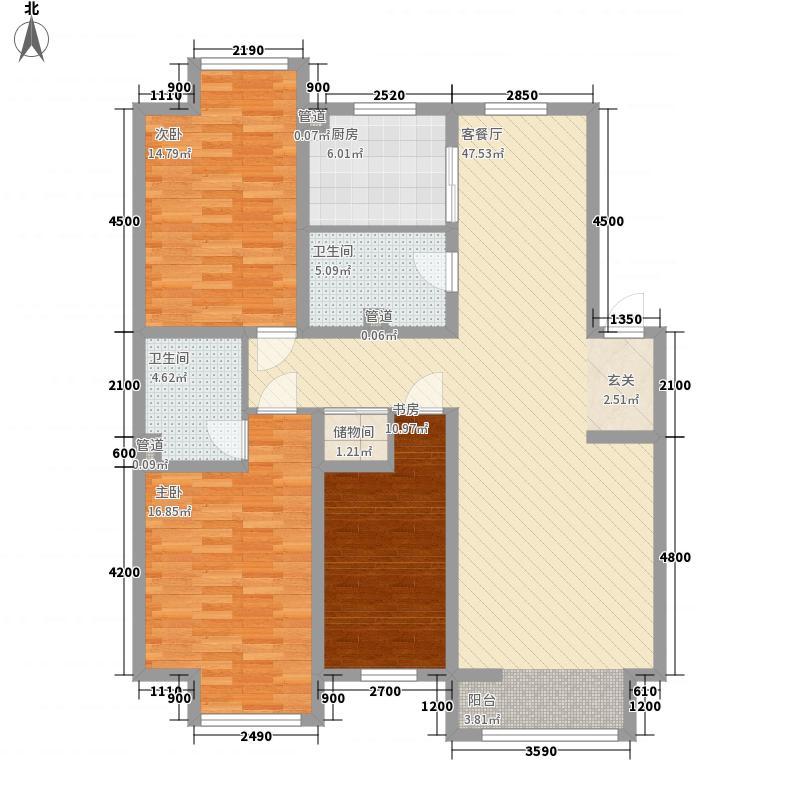 恒安天一名筑136.10㎡恒安天一名筑户型图3室2厅2卫户型10室