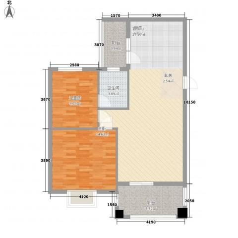 顺宝花园2室1厅1卫0厨77.00㎡户型图