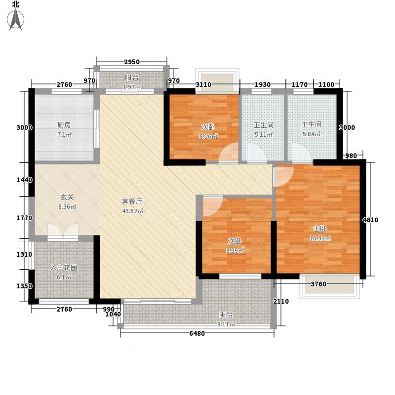 滨江豪园96.00㎡滨江豪园2室户型2室