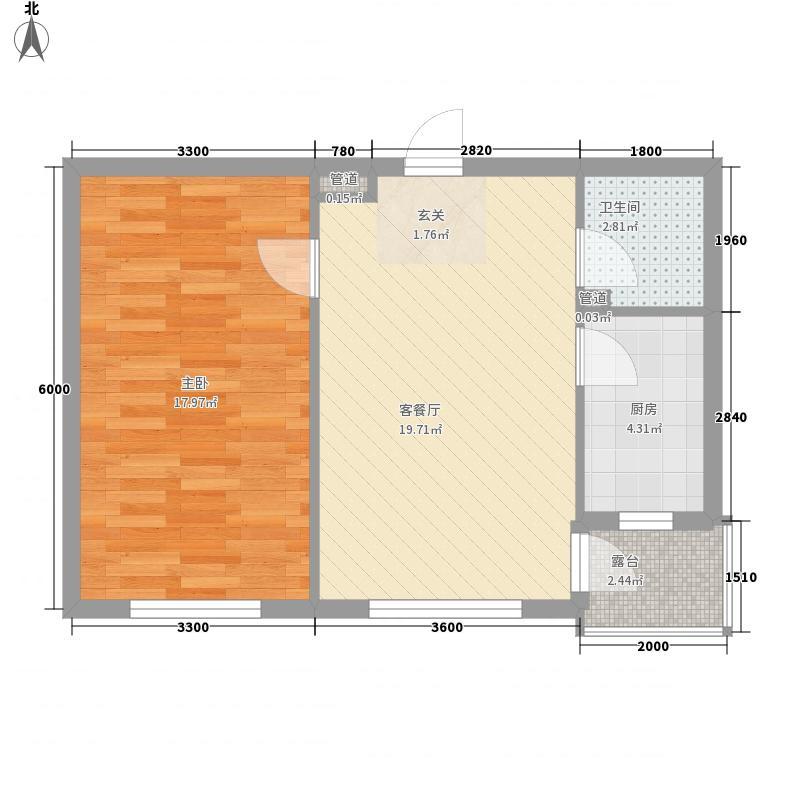 贵族人家58.00㎡贵族人家户型图1室1厅1卫1厨户型10室