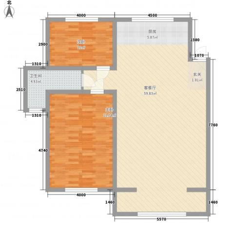 知音园2室1厅1卫0厨132.00㎡户型图