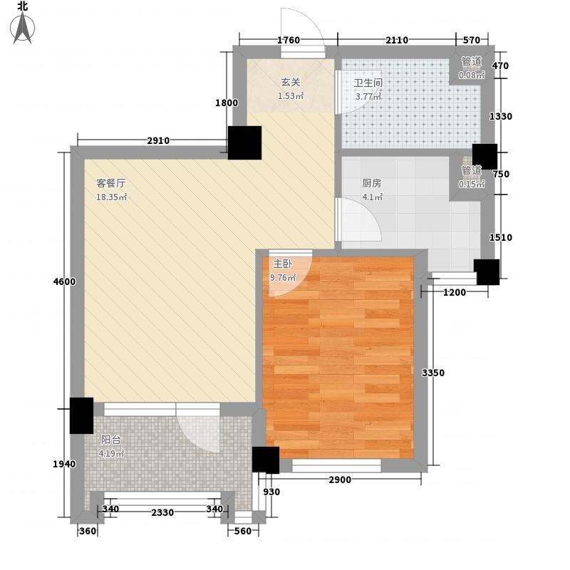 新加坡花园56.25㎡新加坡花园户型图G5号楼A户型1室1厅1卫1厨户型1室1厅1卫1厨