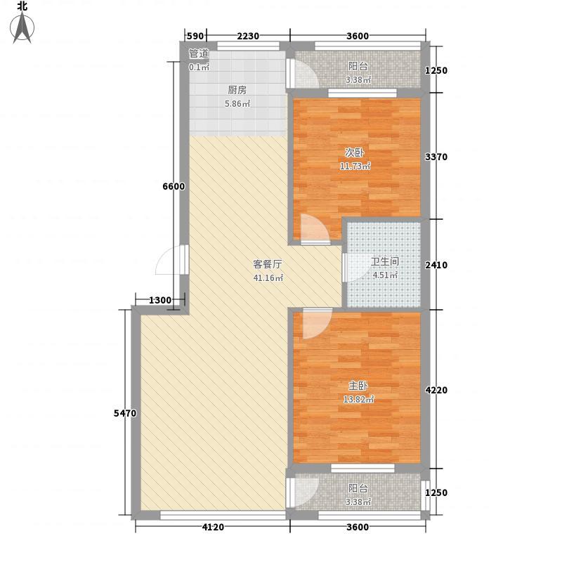 阳光生态城96.42㎡阳光生态城户型图132室2厅1卫1厨户型2室2厅1卫1厨
