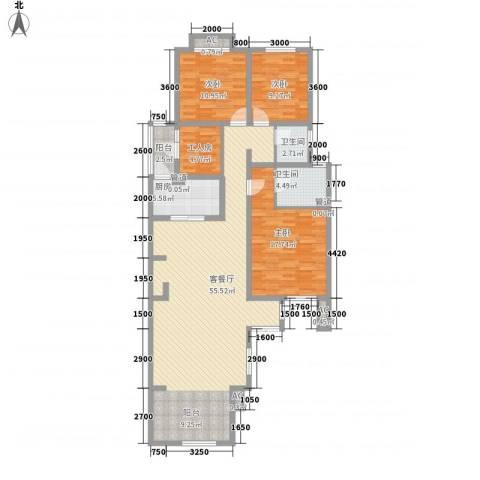 泉山森林海3室1厅2卫1厨134.00㎡户型图