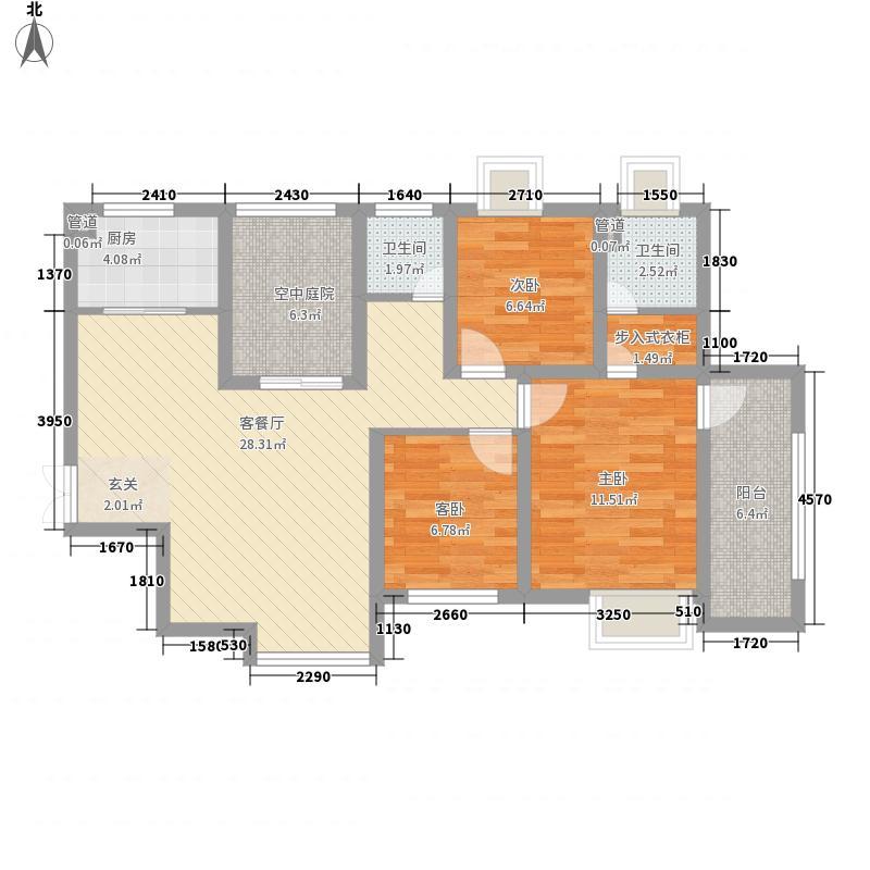 和地蓝湾112.34㎡和地蓝湾户型图20080426-E1奇数7、8号楼3室2厅2卫1厨户型3室2厅2卫1厨