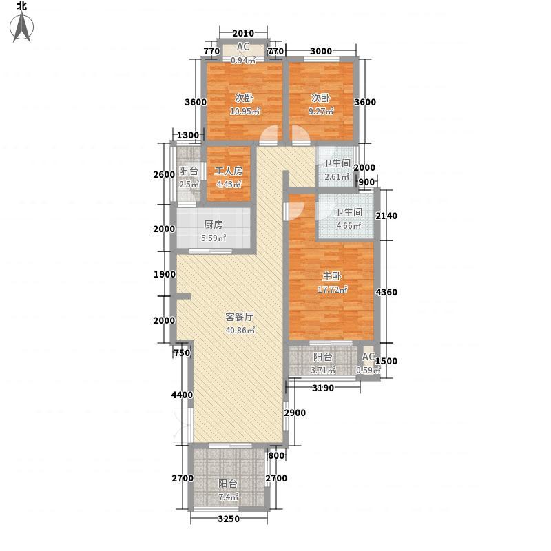 泉山森林海12.10㎡A二楼中户户型3室2厅2卫1厨