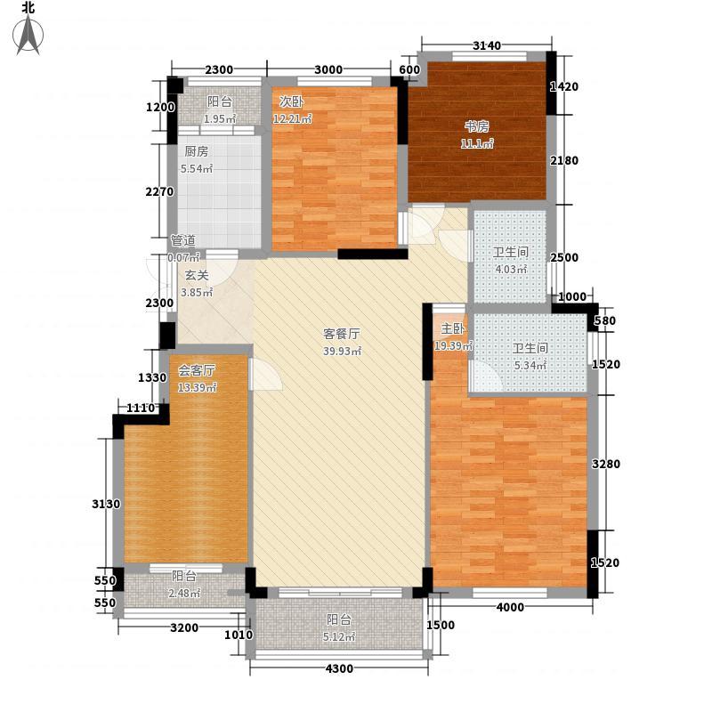 俊发城168.00㎡一期B2号楼D3户型3室3厅2卫1厨