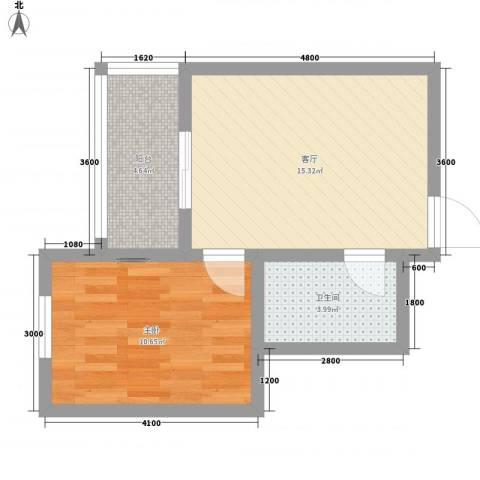 梦驼梁1室1厅1卫0厨40.45㎡户型图