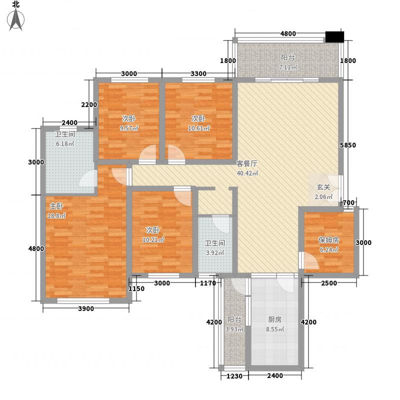福杰苑126.00㎡福杰苑4室户型4室