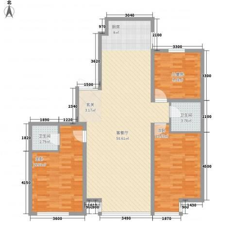 明城嘉苑二期3室1厅2卫0厨139.00㎡户型图
