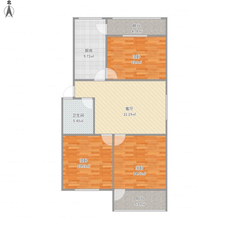谢东小区3室1厅