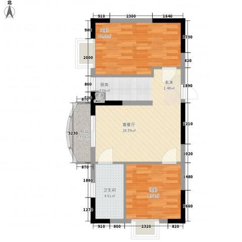 联冠广场2室1厅1卫0厨65.00㎡户型图