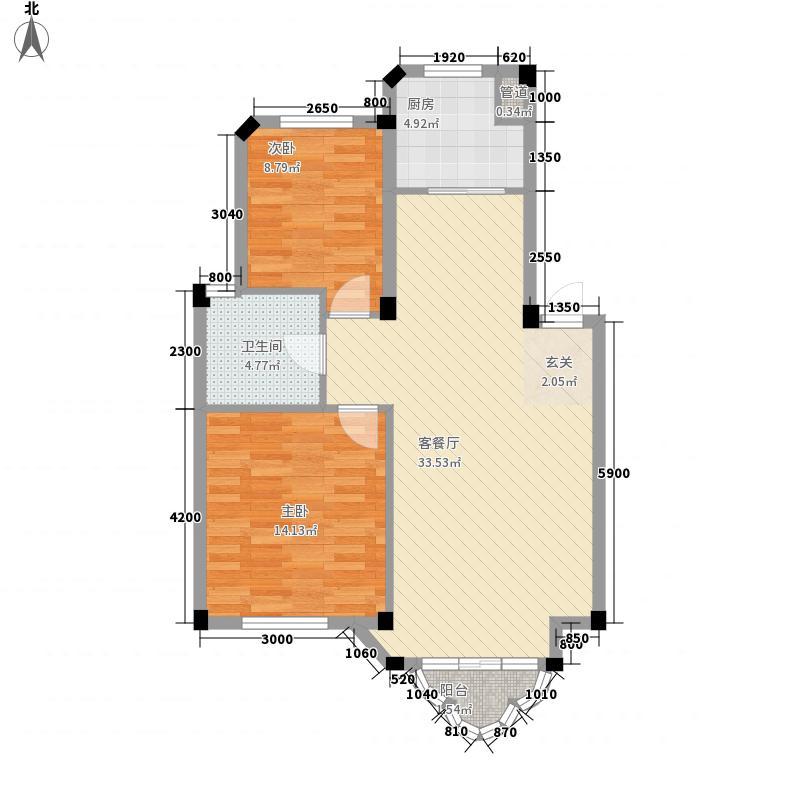 开世嘉年90.00㎡开世嘉年户型图16号楼A户型2室2厅1卫1厨户型2室2厅1卫1厨