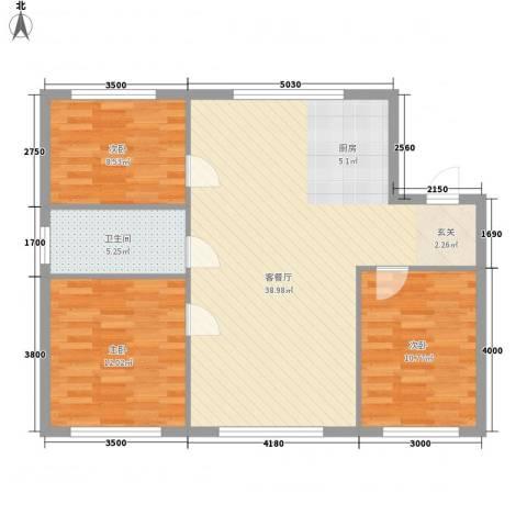 柏林水郡3室1厅1卫0厨103.00㎡户型图