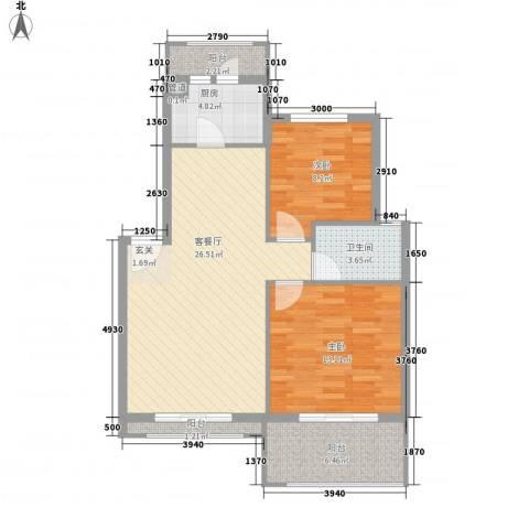 威尼斯水城别墅2室1厅1卫1厨93.00㎡户型图