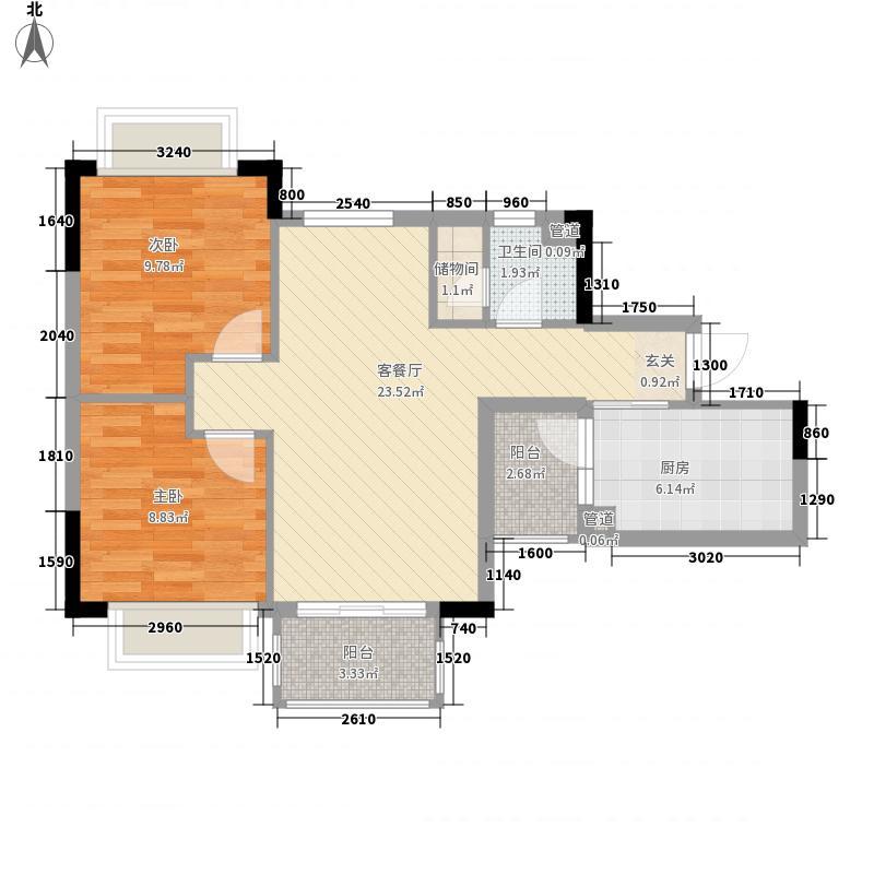 安南丽苑82.84㎡安南丽苑户型图3、6栋02、05房2室2厅1卫1厨户型2室2厅1卫1厨