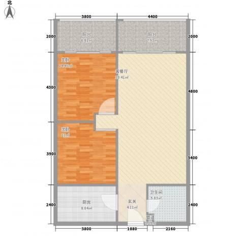 冬都大厦2室1厅1卫1厨119.00㎡户型图