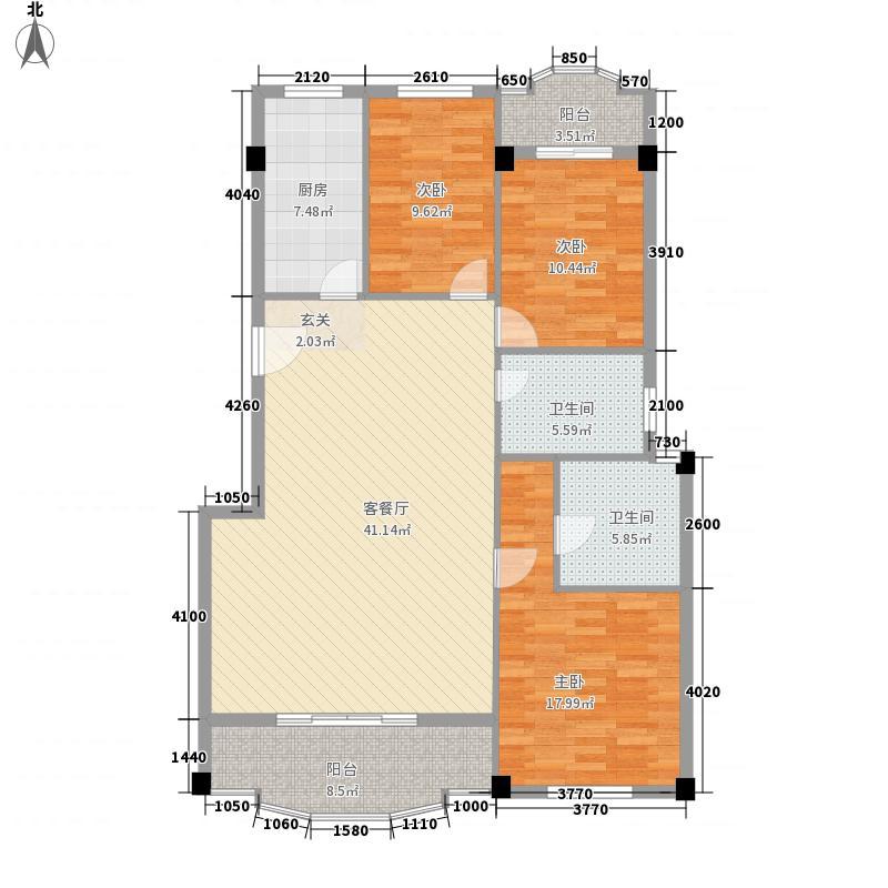 航天花园三期户型图(已售完) 3室2厅2卫1厨