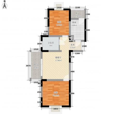 汇智・阳澄华庭2室1厅1卫1厨82.00㎡户型图