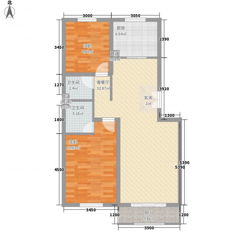 金榭巴黎2.80㎡c15-面积9289户型2室2厅2卫