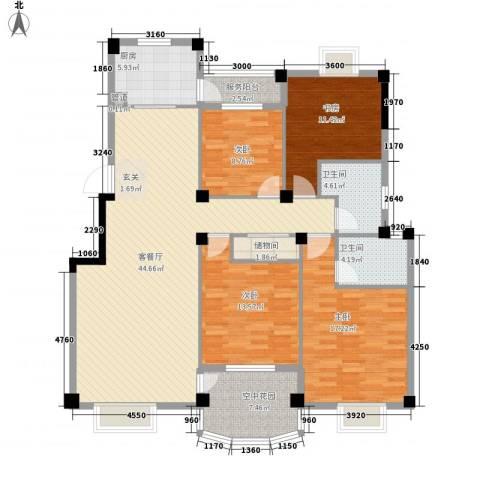 航天花园三期4室1厅2卫1厨151.00㎡户型图