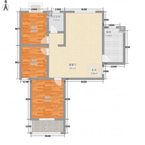 和信花园3室1厅1卫1厨118.00㎡户型图