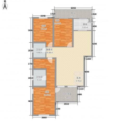 朝阳花园3室0厅2卫1厨119.41㎡户型图