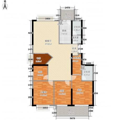 蔚蓝国际5室1厅2卫1厨192.00㎡户型图