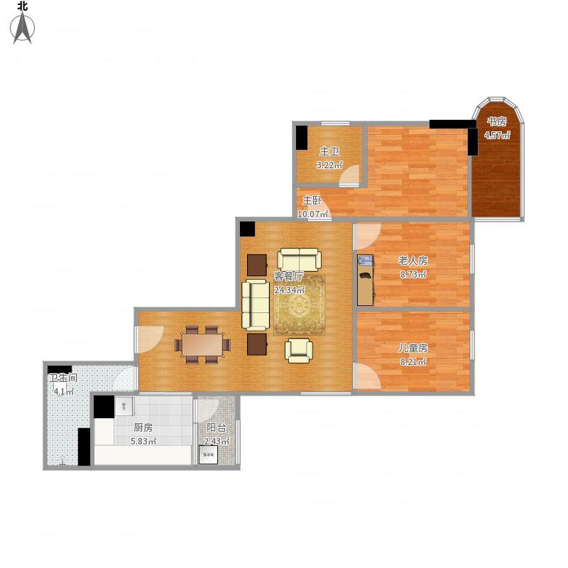 天河北桥林苑1期A栋1503户型