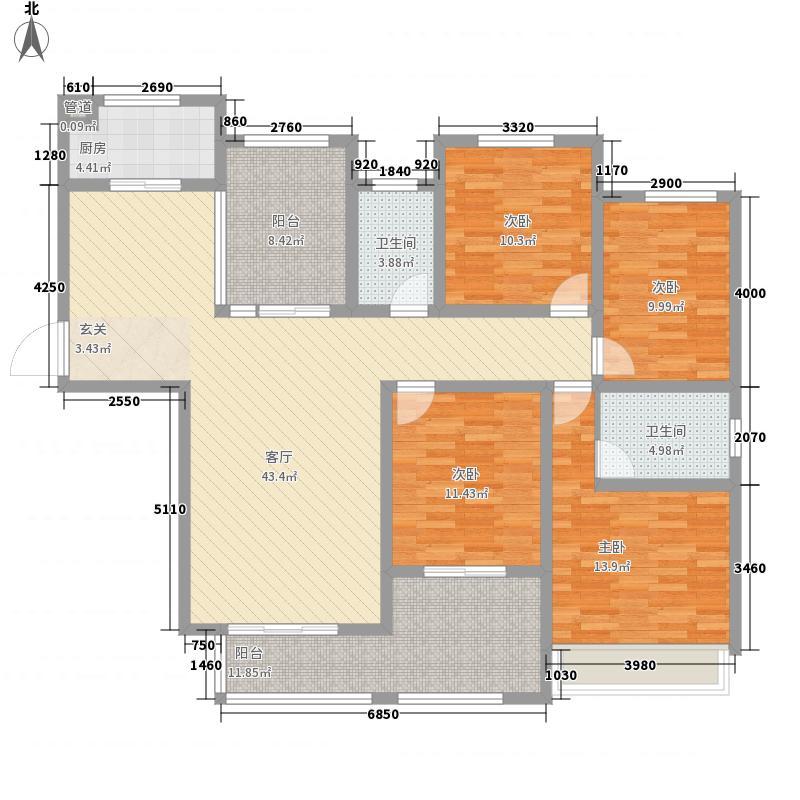 建业高尔夫花园168.00㎡2期C5户型4室2厅2卫1厨