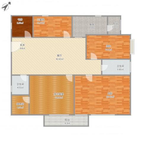 御龙华庭4室1厅2卫1厨215.00㎡户型图