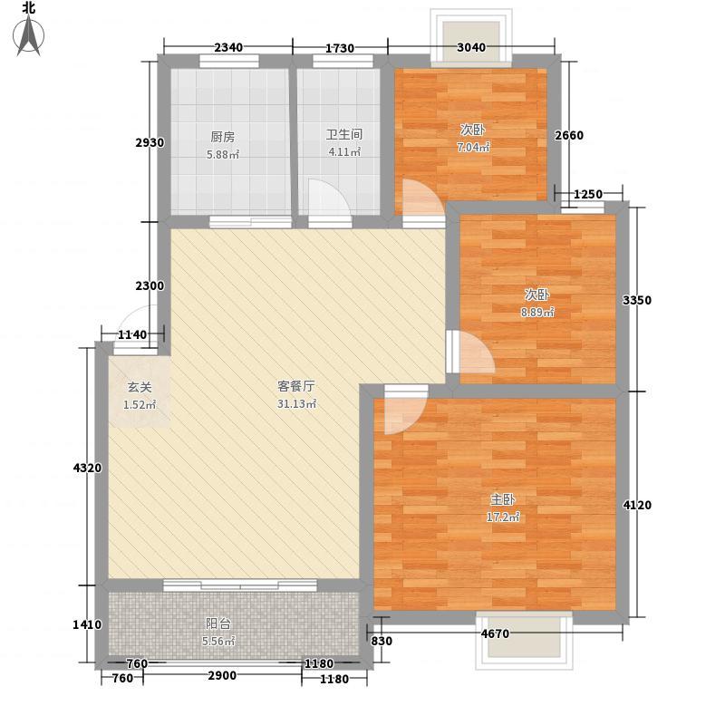 龙都花园114.19㎡龙都花园户型图D1户型3室2厅1卫户型3室2厅1卫