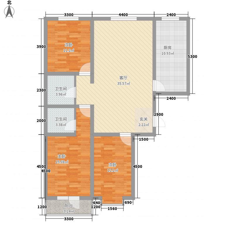御㎡华府126.64㎡御㎡华府C户型3室2厅2卫1厨126.64㎡户型3室2厅2卫1厨